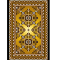 Carpet in the old style with a gold background vector image
