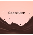 chocolate splash on pink background vector image