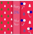 Christmas and New Year seamless set vector image vector image