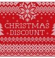 Christmas discount Scandinavian style seamless vector image vector image