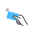 contactless nfc wireless pay sign logo credit vector image vector image
