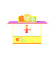cute colorful stall isolated on white background vector image vector image