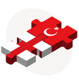 England and Turkey Flags in puzzle vector image