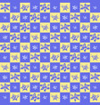 exotic checkered flower pattern vector image