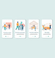 furniture store mobile app onboarding screens vector image