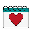 gift heart flat vector image vector image