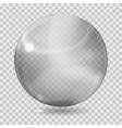 Gray transparent glass sphere