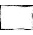 grunge paintbrush edge vector image