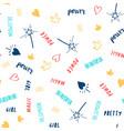 hand drawn slogan pattern seamless vector image vector image