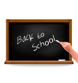 Hand writing on a blackboard vector image vector image