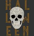 happy halloween skull vector image vector image