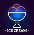 ice cream logo flat style vector image vector image