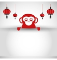 Icon of the year of the monkey design vector image vector image