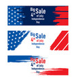 independence day of usa sale banner design vector image