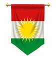 kurdistan pennant vector image vector image