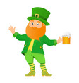 leprechaun with beer vector image