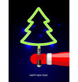 Light Green Christmas tree Lightsaber in form of vector image vector image