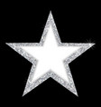 luxury silver star a beautiful silver star vector image