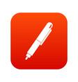 marker pen icon digital red vector image vector image
