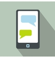 Messages on a phone icon vector image vector image