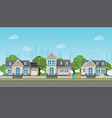 modern family house with car vector image vector image