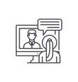 online negotiations line icon concept online vector image vector image