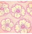 Ornate pink flowers seamless pattern vector image vector image