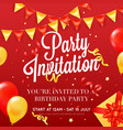 party invitation festive colorful poster vector image vector image