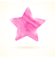 Pink watercolor star vector image vector image