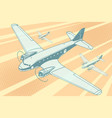 planes flying in sky vector image vector image