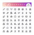 pregnancy line icons set vector image vector image