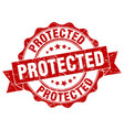 protected stamp sign seal vector image vector image