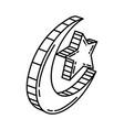 ramadan crescent icon doodle hand drawn vector image