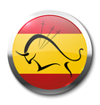 Realistic badge bullfighting vector image vector image