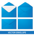 realistic blue envelope mockups vector image vector image