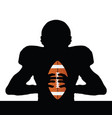 rugby player silhouette vector image