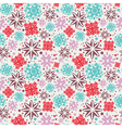 Seamless christmas ornament pattern vector image