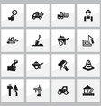 set of 16 editable construction icons includes vector image vector image