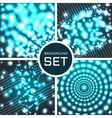 set of four seamless background vector image vector image