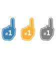 set of thumb up number 1 fan vector image vector image