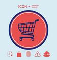 shopping cart icon shopping basket design vector image