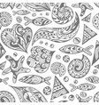 sketch sea pattern vector image vector image