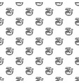 smoking pipe pattern seamless vector image