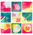 social media editable banners minimalism web vector image