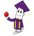 Square guy-student vector image