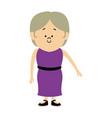standing woman character people cartoon vector image vector image