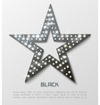 Star retro black metal light banner vector image vector image