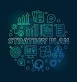 strategy plan circular colored vector image vector image