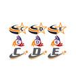 success life coaching initial set vector image vector image