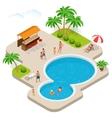 summer fun at aqua park child with parents